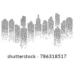 city skyline vector illustration | Shutterstock .eps vector #786318517