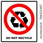 do not recycle symbol  no... | Shutterstock .eps vector #786321487