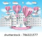 valentine's day illustration....   Shutterstock .eps vector #786321577