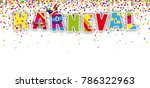 german text karneval  translate ... | Shutterstock .eps vector #786322963