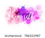 be yourself hand lettering...   Shutterstock .eps vector #786322987