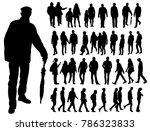 silhouette people  set | Shutterstock .eps vector #786323833