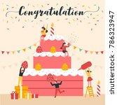 celebration vector illustration ... | Shutterstock .eps vector #786323947