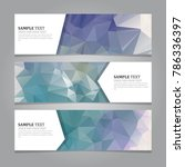 polygonal geometric banners  | Shutterstock .eps vector #786336397