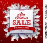 after christmas sale square... | Shutterstock .eps vector #786339883