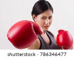 woman impact punching  woman... | Shutterstock . vector #786346477