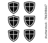 shield icon set  protect guard...   Shutterstock .eps vector #786348667