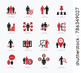 human resource icon set design | Shutterstock .eps vector #786349027