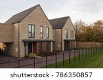 the first homes completed in... | Shutterstock . vector #786350857