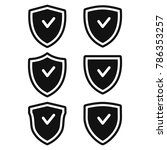 secure  shield icon set ...   Shutterstock .eps vector #786353257