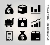 shopping vector icon set.... | Shutterstock .eps vector #786359413