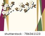 cherry blossom background... | Shutterstock .eps vector #786361123