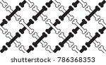 seamless pattern dog bone cross ... | Shutterstock .eps vector #786368353