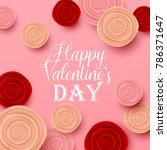 valentine s day background.... | Shutterstock .eps vector #786371647