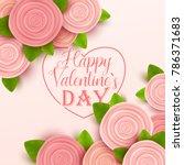 valentine s day background.... | Shutterstock .eps vector #786371683