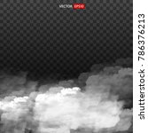 white vector cloudiness  mist...   Shutterstock .eps vector #786376213