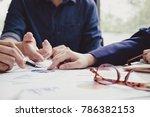 asian business adviser meeting... | Shutterstock . vector #786382153