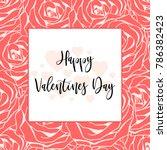 happy valentines day banner ... | Shutterstock .eps vector #786382423