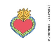 sacred heart of mary vector... | Shutterstock .eps vector #786390517
