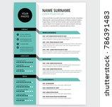 creative cv   resume template... | Shutterstock .eps vector #786391483