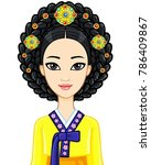 asian beauty. animation... | Shutterstock .eps vector #786409867