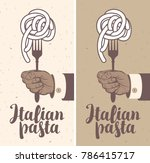 vector banner for a restaurant... | Shutterstock .eps vector #786415717