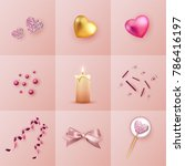 collage valentines day | Shutterstock .eps vector #786416197