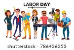 labor day vector. group of... | Shutterstock .eps vector #786426253