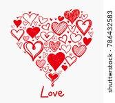 grunge sketch handmade doodle...   Shutterstock .eps vector #786432583