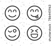 happy smiley icons. laughing... | Shutterstock .eps vector #786445963