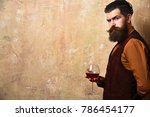 sommelier with confident face... | Shutterstock . vector #786454177