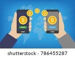 bitcoin transaction   paying... | Shutterstock .eps vector #786455287