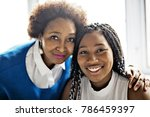 an african american mother and... | Shutterstock . vector #786459397