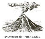 volcano activity with magma ...
