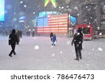 new york  ny  usa january 4 ... | Shutterstock . vector #786476473