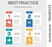 best practice infographic icons | Shutterstock .eps vector #786480223