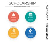 scholarship  infographic icons   Shutterstock .eps vector #786480247