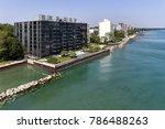 aerial view of condominium... | Shutterstock . vector #786488263