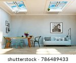 strange  upside down room...   Shutterstock . vector #786489433