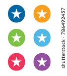 a colorful graphic set of stars | Shutterstock .eps vector #786492457