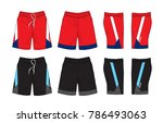 set of sport shorts template | Shutterstock .eps vector #786493063
