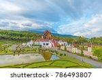 ho kham luang  royal pavilion ... | Shutterstock . vector #786493807