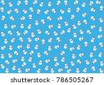 snowman vector pattern... | Shutterstock .eps vector #786505267