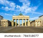 brandenburger tor  brandenburg... | Shutterstock . vector #786518077