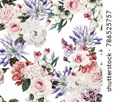 seamless floral pattern with... | Shutterstock .eps vector #786525757
