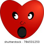 the emoticon of a surprised red ... | Shutterstock .eps vector #786531253