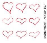 modern vector set of hand drawn ... | Shutterstock .eps vector #786534157