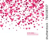 pink and red hearts on a white... | Shutterstock .eps vector #786538537