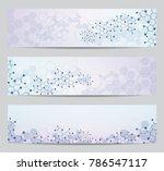 set of modern scientific... | Shutterstock .eps vector #786547117