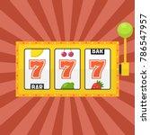 golden slot machine with lucky... | Shutterstock .eps vector #786547957